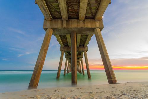 sony a6000 rokinon 10mm pensacola beach fishing pier sunset long exposure f11