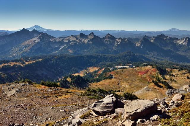 Three Stratovolcanoes on the Horizons (Mount Rainier National Park)
