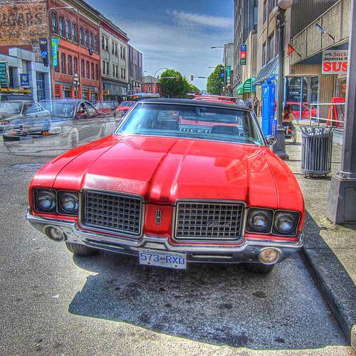 red car hdr oldsmobile redcar cutlass thegalaxy 72cutlass