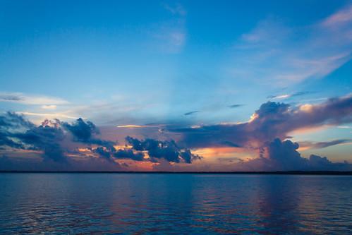 blue sunset sky orange beach nature water colors clouds sunrise canon river landscape