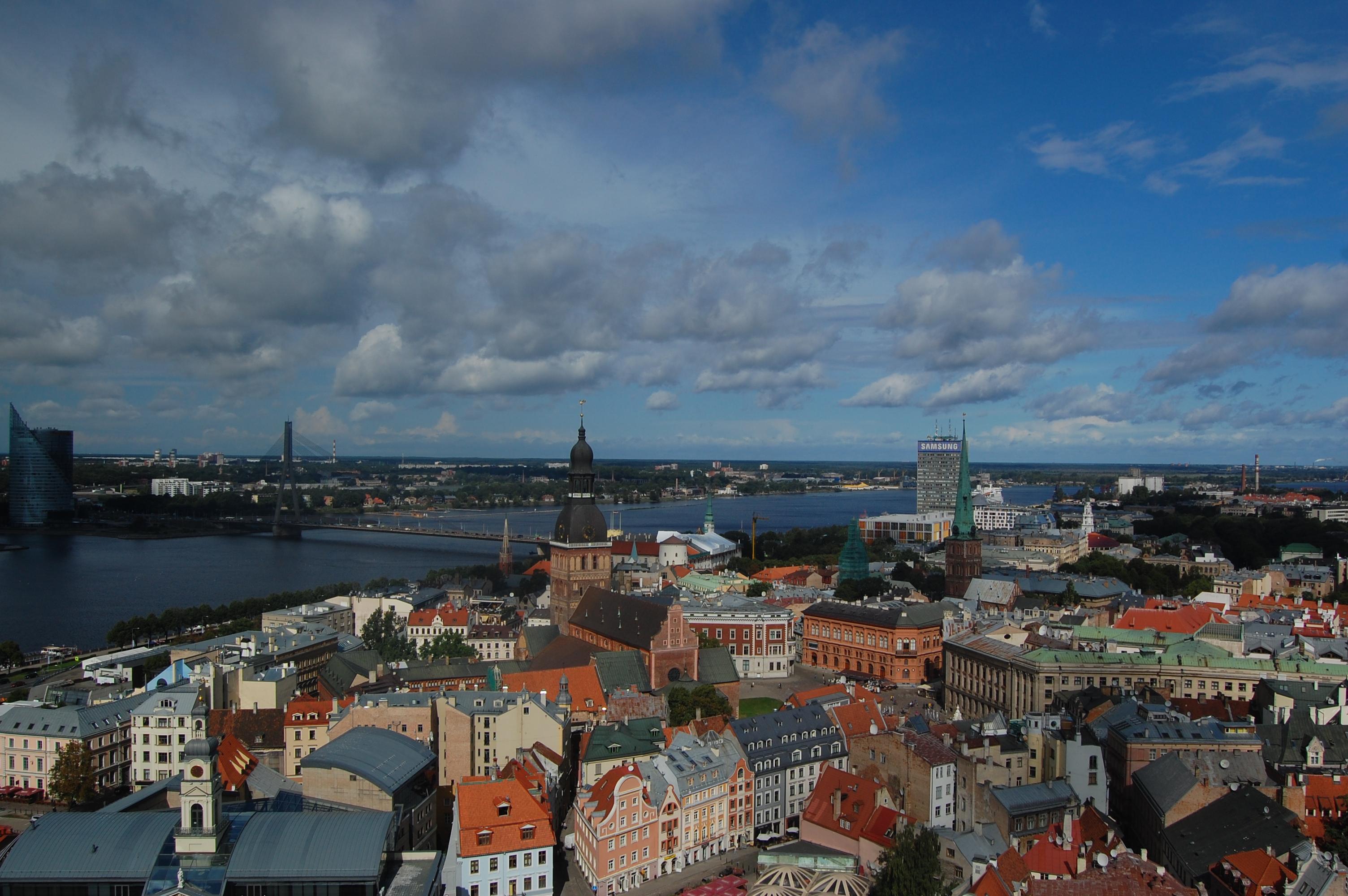 Riga z výšky