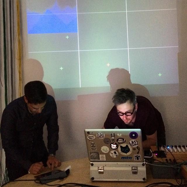 Me and #taavivarm AKA @hr_miisu jamming at #monoshop  opening #neukolln #berlin