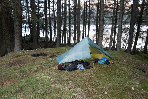Camp at Loch Osian.