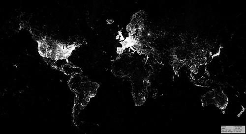 Visualization of globally geotagged Flickr photos, 2007-2015 | by Sieboldianus