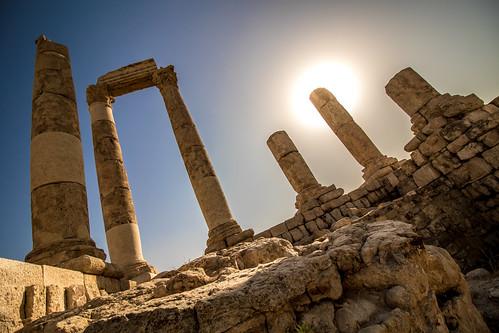amman citadel jabalalqalaa jordan templeofhercules roman ruins ammangovernorate