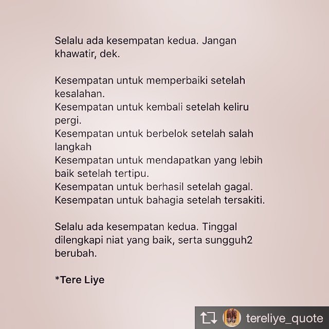 Quotes Novel Tere Liye