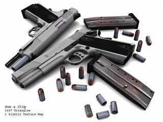 SW1911_Gun__Clip_and_Amo
