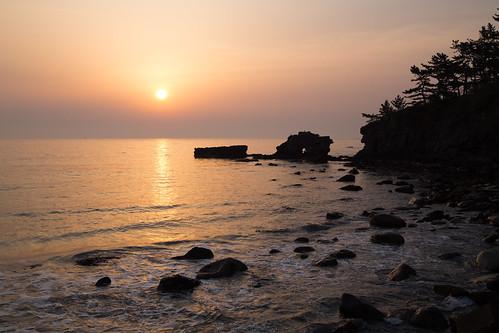 sea sunrise 日本 岩手県 洋野町 九戸郡 種市海浜公園
