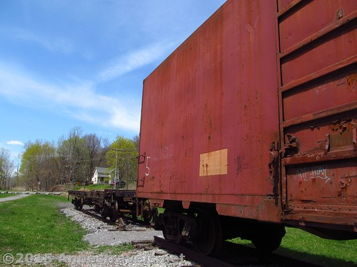 Rail cars at Rochester Junction, Lehigh Valley Trail, New York