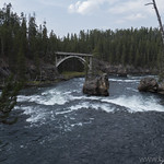 Yellowstone River with old bridge