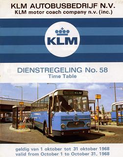 Dienstregeling KLM-ABB 1968 (bus 3003)