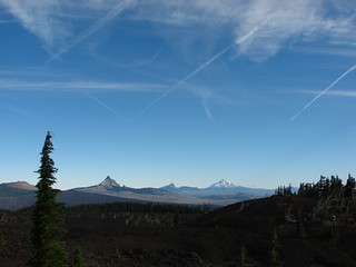Belknap Crater, Mt. Washington, Three Fingered Jack, Mt. Jefferson & Mt. Hood