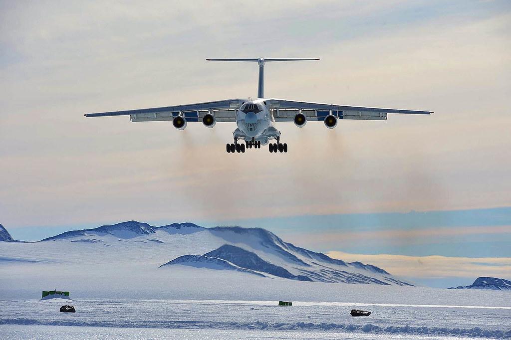 Ilyushin 76 comes for us in Antarctica