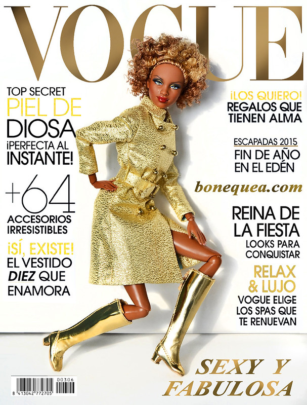 Vogue magazine: Golden cover girl