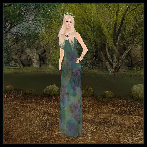 Join Hands for Nepal - Green Maxi Dress & Vestige My Model Life Pose #5 (fr) | by Hidden Gems in Second Life (Interior Designer)
