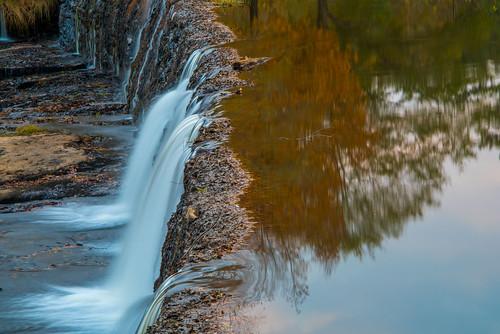 watson bridge state park georgia waterfall november fall autumn colors