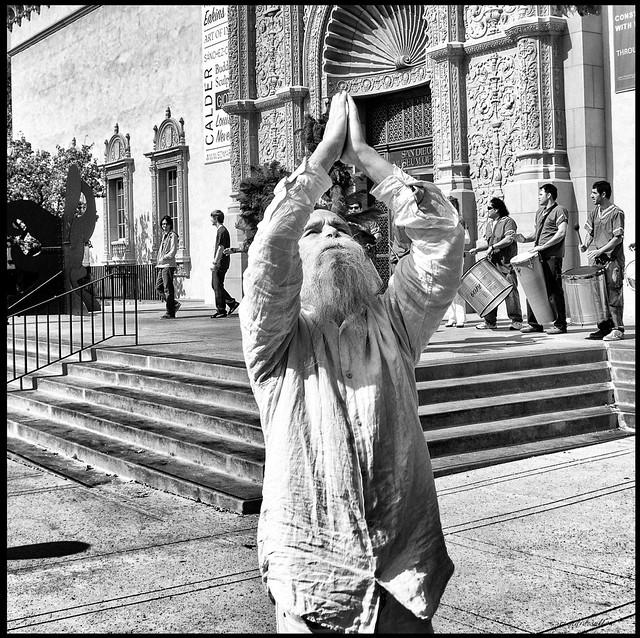 Around San Diego: Man at Festival 1