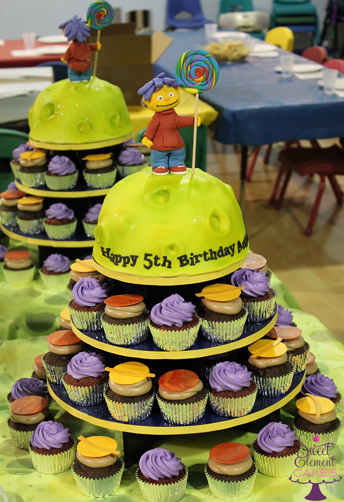 Pleasing Sid The Science Kid Planet Birthday Cupcake Tower Jen Roberts Funny Birthday Cards Online Inifofree Goldxyz