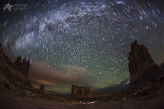Milky Way Swirls Over Arches Park Avenue