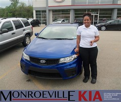 #HappyAnniversary to Felicia Rose Kelly on your 2010 #Kia #Forte from Andrew Molnar  at Monroeville Kia!