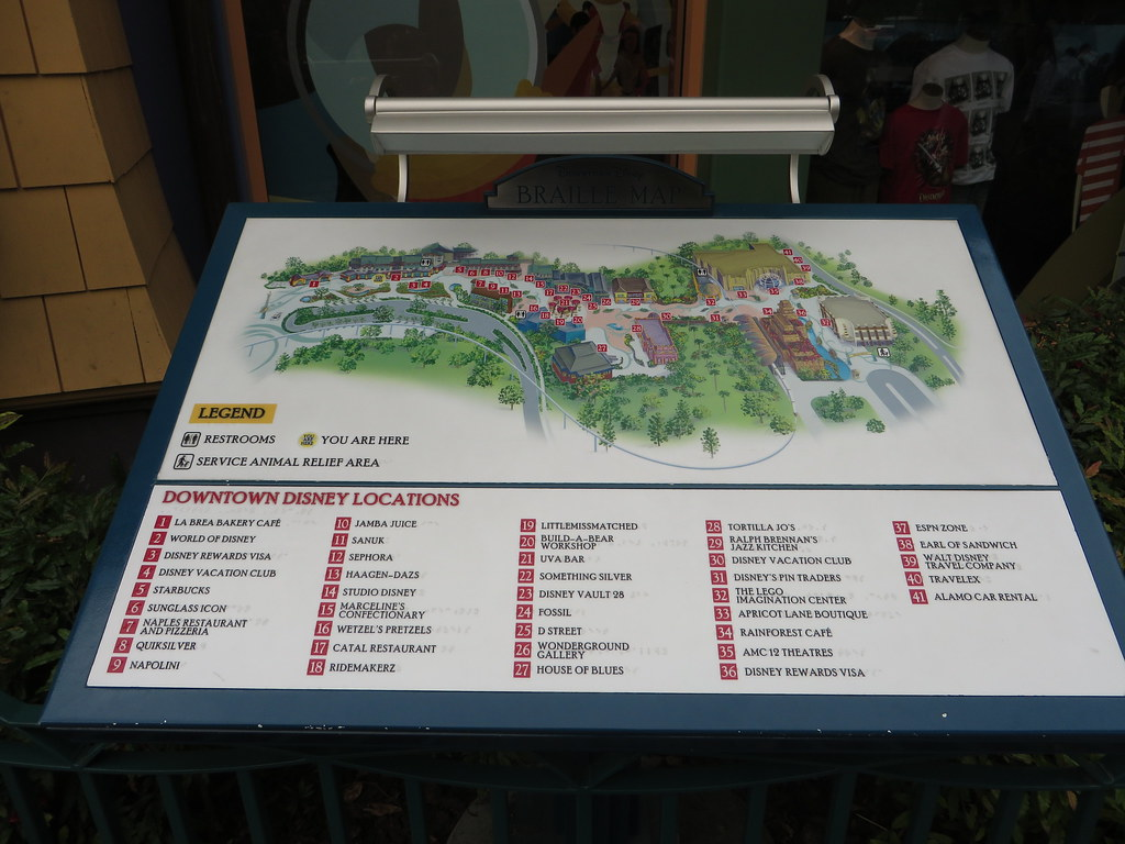 Downtown Disney Hotels Map on
