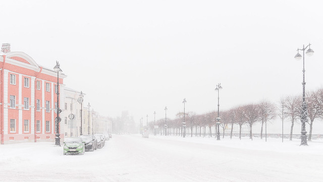 Blizzard in Saint-Petersburg