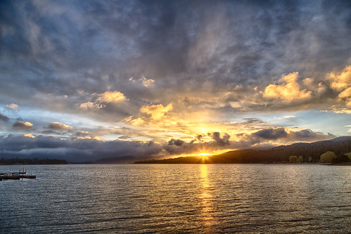 california sunset lake unitedstates bigbear lakebigbear