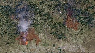 Detailed Satellite Imagery of the Idaho Wildfires | by NASA Goddard Photo and Video