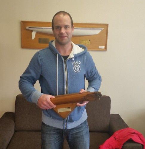 Bernard Sonck, winner of the capsize trophy | by PLSC (Panmure Lagoon Sailing Club)