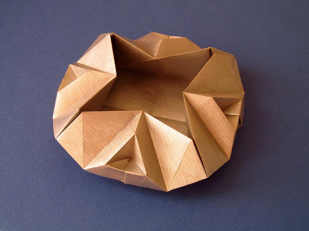 Scatola Sfaccettata Faceted Box Tecnica Origami Con Fo