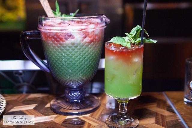 Chia Fresca - pitcher and glass