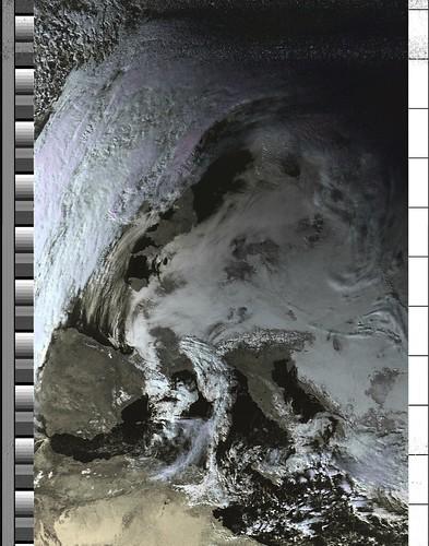 NOAA-19 orbit 41027 on 20170125 13:52:06 UTC (HVC) | by csete