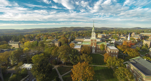 autumn fall campus aerial dartmouth