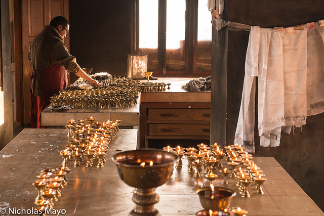 Preparing The Butter Lamps