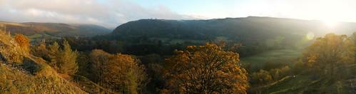 wales mountains breconbeacons craigynos swanseavalley autumn autumncolours sunrise dawn