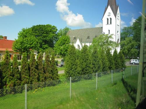 vara 2010 kyrka church train kulturminne tåg västragötaland västtrafik