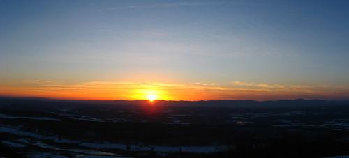 sunset ny us colorful unitedstates photomerge snowshoeing catskills latewinter taconics copakefalls southtaconictrail