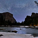 Milky Way Over Yosemite National Park's Valley View by Tom.Bricker
