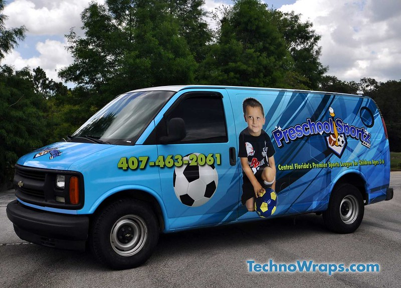 Full sized Orlando cargo van wrap