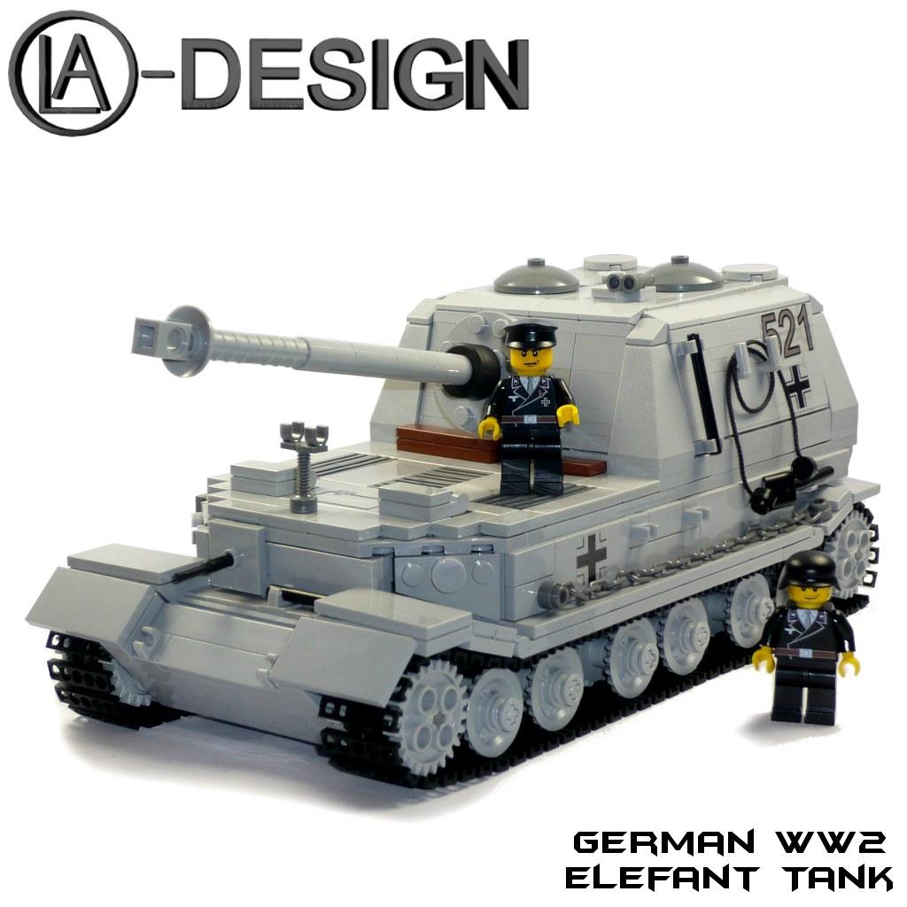 LEGO WW2 german Elefant Tank ART | The german WW2 SdKfz 184