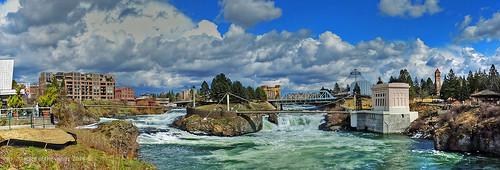 spokane falls waterfalls rivers otw theupperfalls thespokaneriver