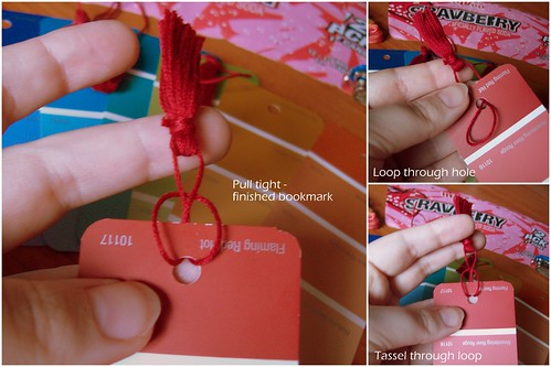 Adding tassel to bookmark | by Sword in the Stove