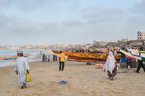 Fishing boats in Yoff, Dakar | by jbdodane