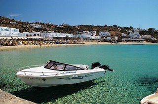 Mykonos port | by travelinsteve