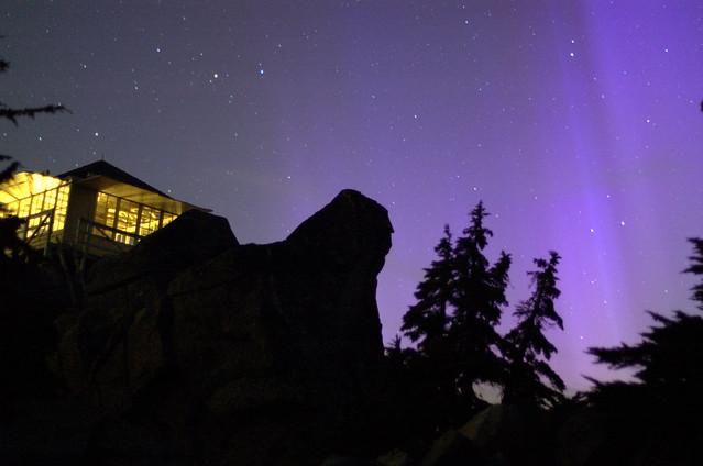 Mt Pilchuck Lookout Aurora Borealis