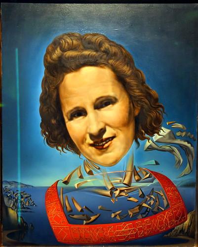 painting of Gala: Salvador Dali: Dali Museum, Figueres