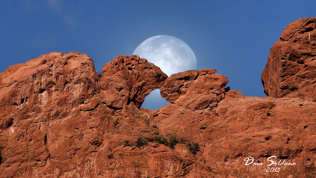 Moon in back of Kissing Camels