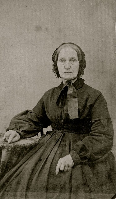 Hagerstown Mourner, B&W Version of Albumen Cabinet Card, Circa 1863
