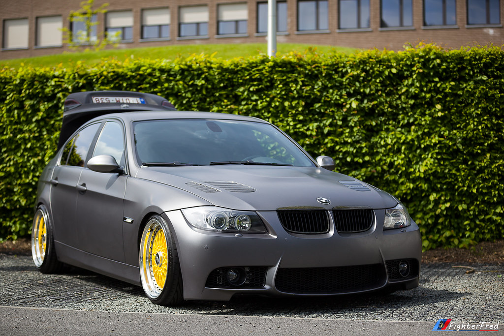BMW E90 - Gris Mate - BBS RS Jaune - Laylow 2015 | Canon Eos… | Flickr