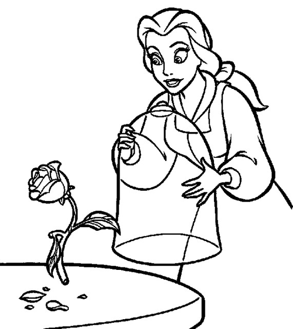 Belle Disney Coloring Pages For Kids Petra Cute Flickr
